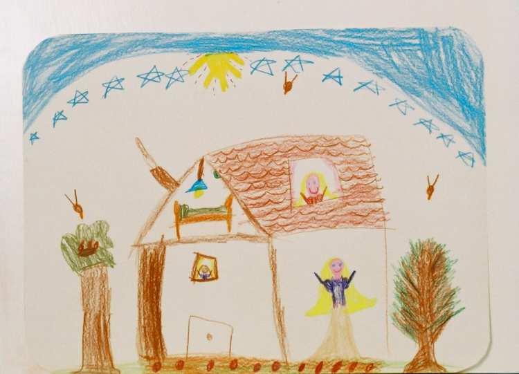 Kindertekeningen: tekenen met kleurpotlood of krijt naar aanleiding van een verhaal of gebeurtenis, biedt kinderen de mogelijkheid hun belevingswereld en fantasie in beelden uit te drukken