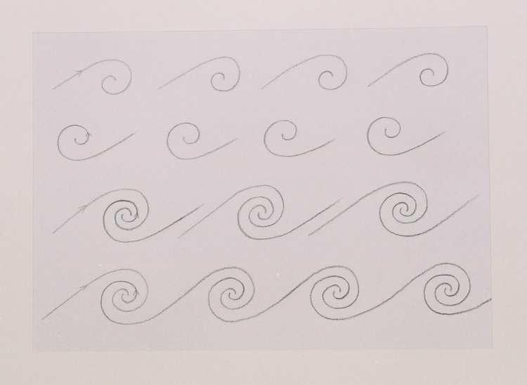 Vormtekenen en vormschilderen: zoeken naar ritme en evenwicht tussen vorm en beweging.